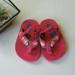 Teva | Pink Sheep Flip Flops | Toddler 4T